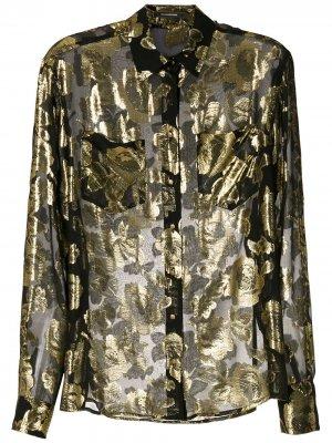 Джинсовая куртка с фактурной подкладкой À La Garçonne. Цвет: черный