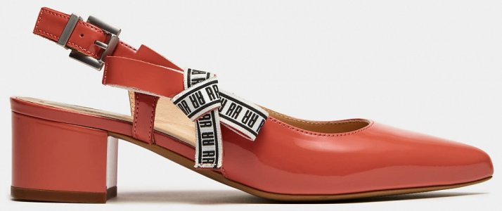 Туфли открытые Ralf Ringer. Цвет: красный
