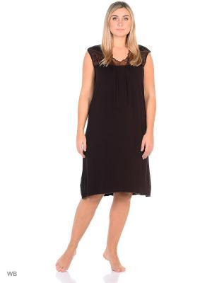 Ночная сорочка больших размеров Flip. Цвет: коричневый