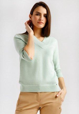 Пуловер Finn Flare. Цвет: бирюзовый