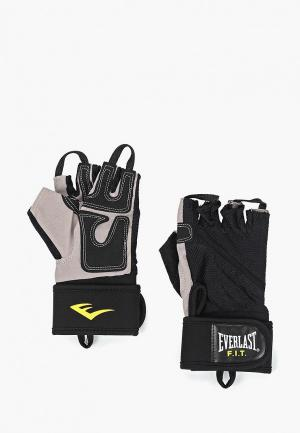 Перчатки для фитнеса Everlast Weightlifting. Цвет: черный