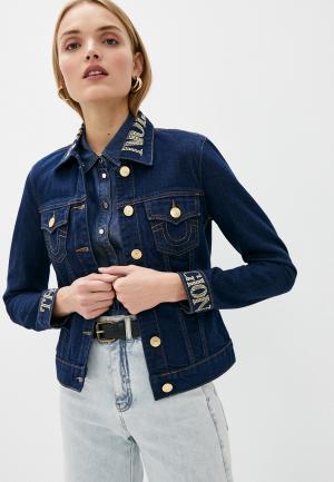 Куртка джинсовая True Religion. Цвет: синий