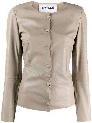 Приталенная куртка S.W.O.R.D 6.6.44. Цвет: нейтральные цвета