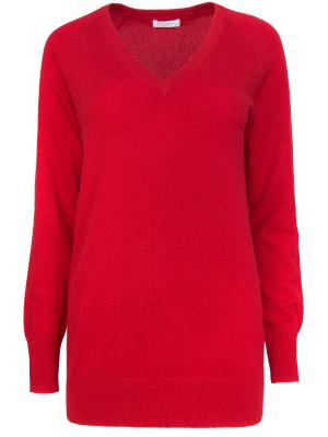 Кашемировый пуловер EQUIPMENT. Цвет: красный