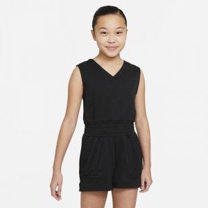 Комбинезон для тренинга девочек школьного возраста Dri-FIT - Черный Nike