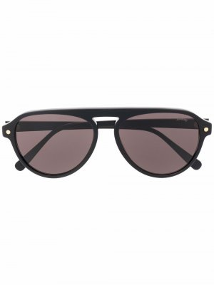 Солнцезащитные очки-авиаторы Brioni. Цвет: черный