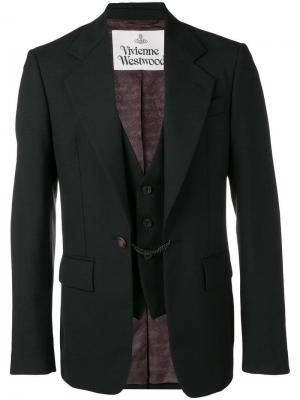 Многослойный блейзер строгого кроя Vivienne Westwood. Цвет: черный