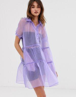 Полупрозрачное платье мини 2NDDAY Jamboree-Фиолетовый 2nd Day