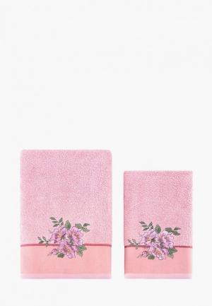 Набор полотенец Karna. Цвет: розовый
