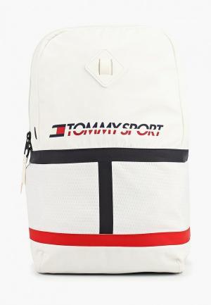 Рюкзак Tommy Sport. Цвет: белый