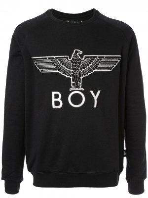 Толстовка Eagle Appliqué Boy London Kids. Цвет: черный