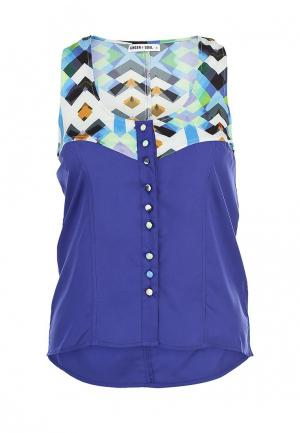 Блуза Ginger+Soul. Цвет: синий