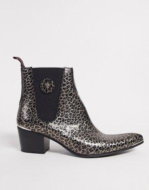 Ботинки челси с леопардовым принтом -Черный Jeffery West