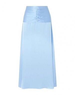 Длинная юбка ARIAS. Цвет: небесно-голубой