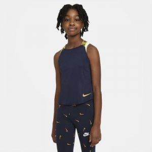 Майка для тренинга девочек школьного возраста Dri-FIT - Синий Nike