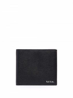 Фактурный бумажник PAUL SMITH. Цвет: черный