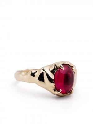 Перстень Vita из желтого золота SUSANNAH KING. Цвет: золотистый