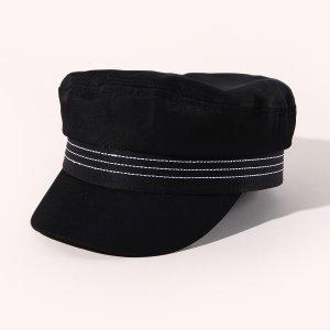 Простая кепка SHEIN. Цвет: чёрный
