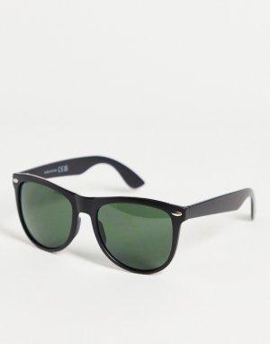 Черные квадратные солнцезащитные очки -Черный цвет River Island