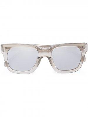 Солнцезащитные очки в квадратной оправе Linda Farrow. Цвет: золотистый