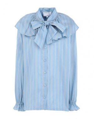 Pубашка DESIGNERS, REMIX. Цвет: небесно-голубой