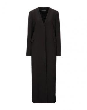 Легкое пальто SANDRO FERRONE. Цвет: черный