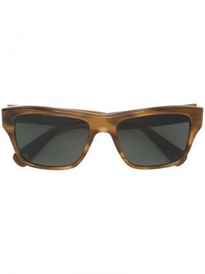 Солнцезащитные очки Carston Paul Smith. Цвет: коричневый