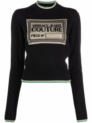 Джемпер с логотипом Versace Jeans Couture. Цвет: черный