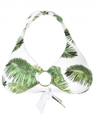 Foliage print ring bikini top Melissa Odabash. Цвет: зеленый