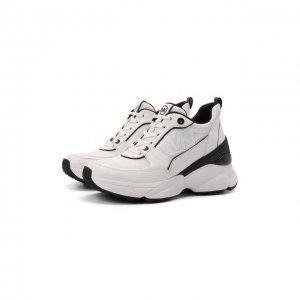 Кожаные кроссовки Mickey MICHAEL Kors. Цвет: белый