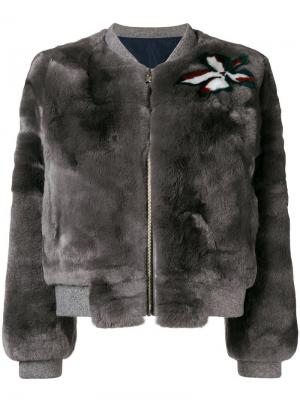 Куртка бомбер из меха кролика Liska