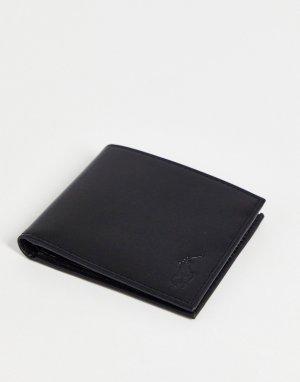 Черный кожаный бумажник эксклюзивно для ASOS-Черный цвет Polo Ralph Lauren