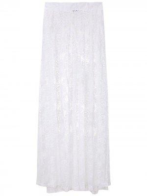 Кружевные брюки палаццо Calça Amir Slama. Цвет: белый