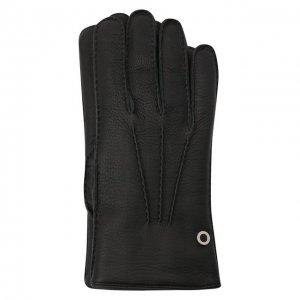 Кожаные перчатки Billionaire. Цвет: чёрный