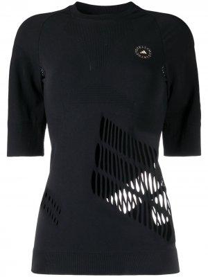 Футболка Truestrength adidas by Stella McCartney. Цвет: черный