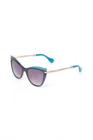 Очки солнцезащитные Enni Marco. Цвет: разноцветный, голубой, синий