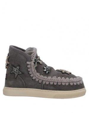 Полусапоги и высокие ботинки MOU. Цвет: серый