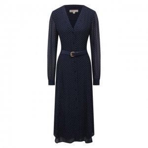 Платье из вискозы MICHAEL Kors. Цвет: синий