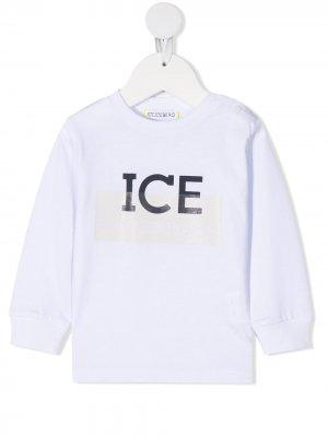 Толстовка с логотипом Iceberg Kids. Цвет: белый