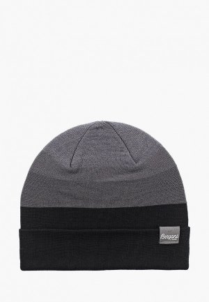 Шапка Bergans of Norway Tonal Beanie. Цвет: серый