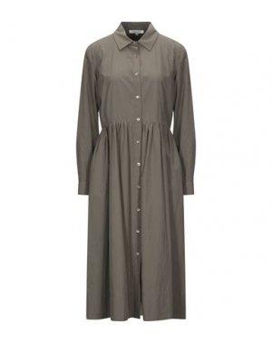 Платье длиной 3/4 GOSSIP. Цвет: зеленый-милитари