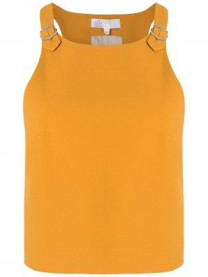 Укороченный спортивный топ Nk. Цвет: желтый
