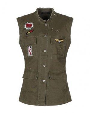 Легкое пальто MANGANO. Цвет: зеленый-милитари