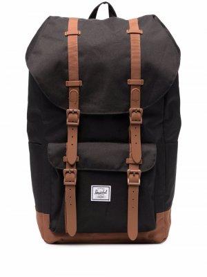 Рюкзак Little America с пряжками Herschel Supply Co.. Цвет: черный