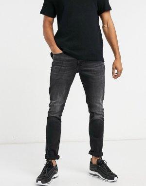 Черные джинсы скинни с рваной отделкой -Черный цвет River Island
