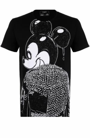 Хлопковая футболка DOMREBEL. Цвет: чёрно-белый