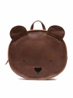 Animal-ears leather backpack Donsje. Цвет: коричневый