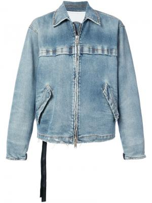 Джинсовая куртка на молнии Unravel Project. Цвет: синий