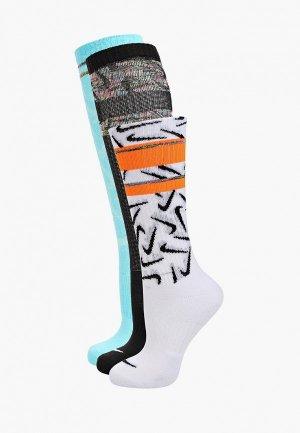 Носки 3 пары Nike Y NK EVERYDAY CUSH CREW 3PR. Цвет: разноцветный