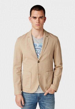 Пиджак Tom Tailor Denim. Цвет: бежевый